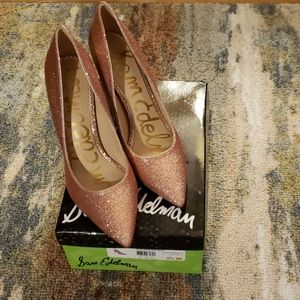 NIB Sam Edelman Hazel pumps,  rose gold glitter